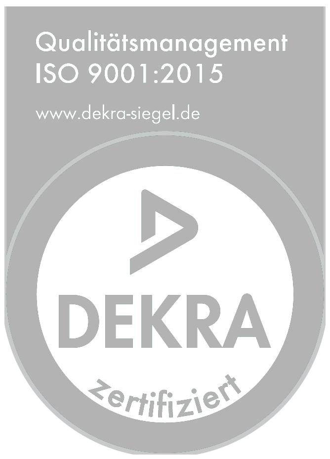 Dekra ISO 9001:2015 Gütesiegel